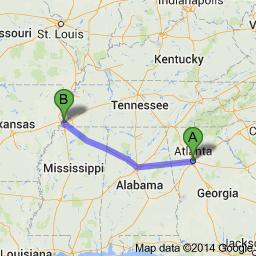 Atlanta to Memphis