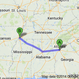 Atlanta to Memphis